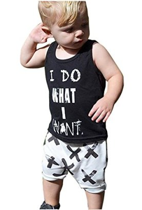 2pcs-Newborn-Toddler-Kids-Baby-Boys-Girls-Black-T-shirt-TopsWhite-Cross-Print-Pants-Outfits-Clothes-Set-1002-3years