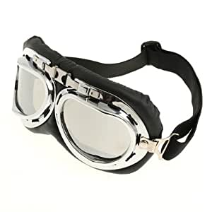 Cool88 Steampunk Motorbike Goggles with Smoke Lenses - - Amazon.com
