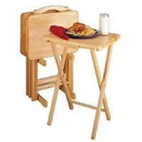 Amazon.com: 5 Piece TV Tray Snack Dinner Folding Table Set ...