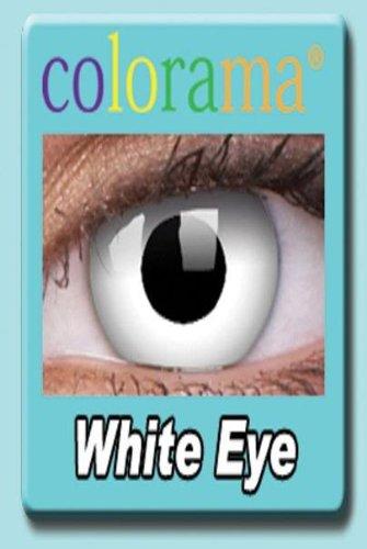 Farbige Kontaktlinsen Crazy Lenses Kostüm Karneval WHITE EYE / WEISS weiß