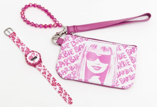 Mattel 25118 - Barbie Set mit Strass-Armbanduhr und Geldbeutel