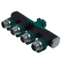 Coolife 4-way Garden Hose to Hose Connector, Heavy Duty ...