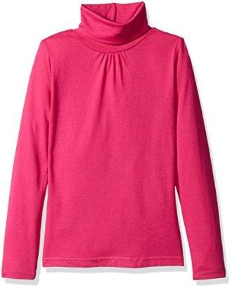 French-Toast-Girls-Big-Girls-Long-Sleeve-Turtleneck-Rose-Violet-1416