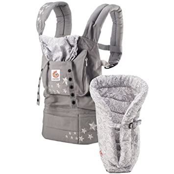 ERGO Baby Carrier Bundle of Joy - Original Galaxy Grey with Galaxy Grey Insert (more colors available)