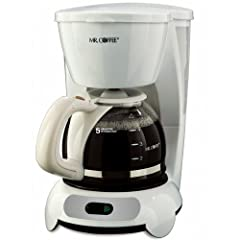 Mr. Coffee TF6 5-Cup Switch Coffeemaker, White