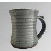 Amazon.com: Large pottery stoneware coffee mug - neutral ...