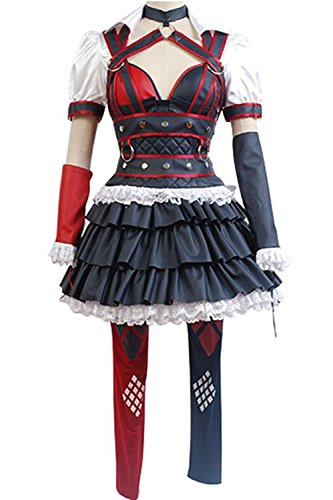 Fantasy Shop Harley Quinn Cosplay Costume Halloween Dress (Custom made)