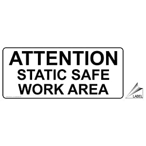 Amazon.com : Attention Static Safe Work Area Label NHE