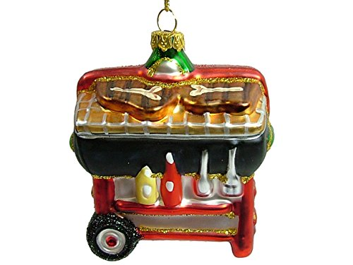 Glass Barbeque Christmas Tree Ornament