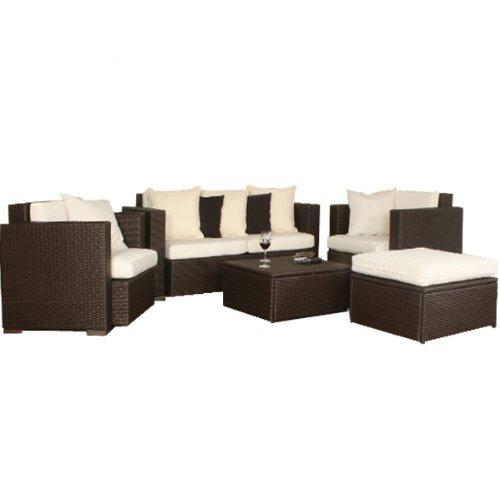 XL Rattangarnitur Gartenmöbel Rattanmöbel Lounge 14-teilig