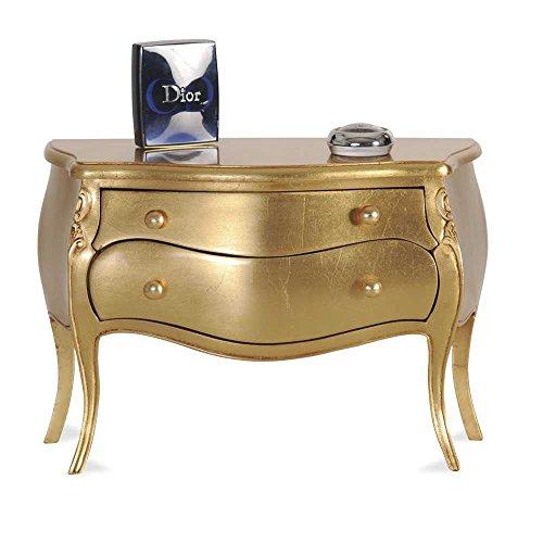 Nachtschränkchen in Gold Barockstil Pharao24