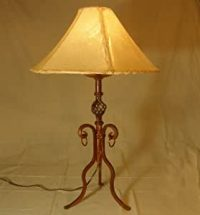 """Southwestern Wrought Iron Table Lamp 32"""" -Queen Creek ..."""