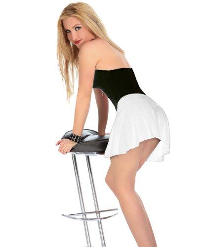 LH-Dessous - 11549 (weiß) Größe S-M. Sexy geraffter Minirock . Das unschuldige weiße als unwiederstehlicher Hingucker. Das Top ist nicht Bestandteil dieses Angebotes