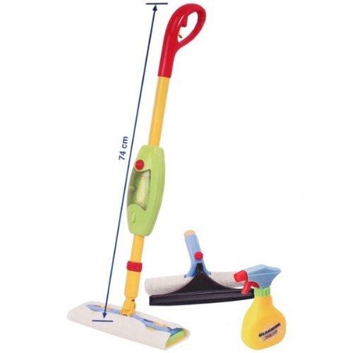 2in1 Kinderwischer Set mit Funktion Bodenwischer 74cm Fensterwischer Wischmop Kinder Haushaltsspielzeug