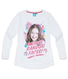 Disney-Soy-Luna-Chicas-Camiseta-mangas-largas-2016-Collection-Blanco