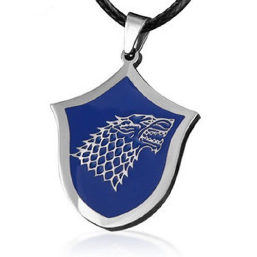 Titanium Steel Game Of Thrones The House Of Stark Wolf Badge Pendant Necklace