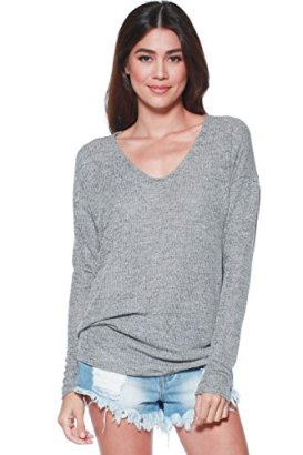 AD-Womens-Thin-Soft-Knit-Dolman-Sleeve-Pullover-Sweater-S-XL