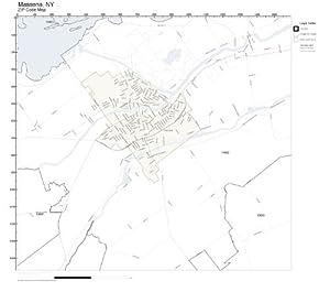 Amazon.com: ZIP Code Wall Map of Massena, NY ZIP Code Map