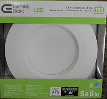 Qty 4  Commercial Electric 5 and 6 in Recessed LED Light