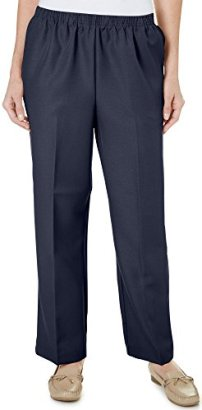Alfred-Dunner-poliester-Pull-On-pantalones