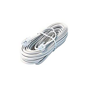 Amazon.com: 25' FT Phone Cord White Modular Line RJ-11