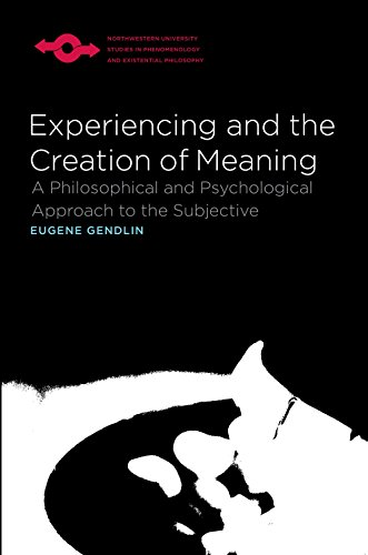 Experiencing and the Creation of Meaning: A Philosophical and Psychological Approach to the Subjective (Studies in Phenomenology and Existential Philosophy)
