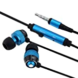 eForCity 3.5mm In-ear Earbud Headset with iTouch 4G with Blue Mic