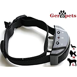 ONE DAY SALE Advance No Bark Collar Kit by Gerapets-Training Dog Collar, Clicker/Whistle & eBook - 7 Adjustable Sensitivity Levels of Warning Sounds & Mild Shock Modes - Safe & Suitable for 15-120 Lb