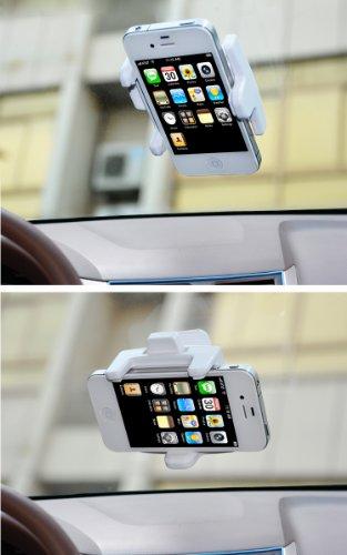 車載ホルダー スマートフォン/iphone/iphone5/iphone5/スマホ/携帯電話/ケータイ/けいたい などを 車/自動車 に装着 カー用品/内装パーツ/カーアクセサリーCAR-HOLDER01-30718 ホワイト