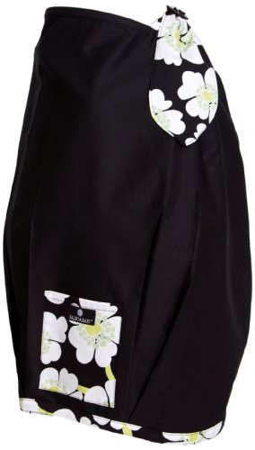 Balboa Baby Nursing Cover, Black with Lime Poppy Trim
