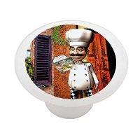 Italian Chef Decorative High Gloss Ceramic Drawer Knob ...