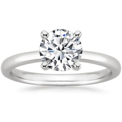 1-Carat-Round-Cut-4-Prong-Solitaire-Diamond-Engagement-Ring-I-J-Color-SI2-Clarity