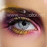Glimmer Schwarz und Silber Kontaktlinsen (Paar) 82021 - Farbige Kontaktlinsen