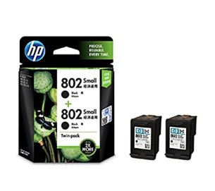 HP Printer Cartridges- Buy HP 802 Ink Cartridge, Twin-Pack (Black) At Rs 495 Only At Amazon