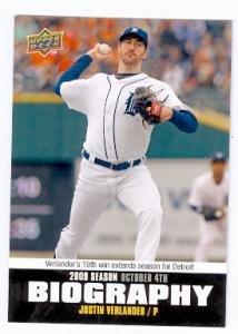 Justin Verlander baseball card (Detroit Tigers) 2009 Upper Deck Biography #SB-199 at Amazon's Sports Collectibles Store