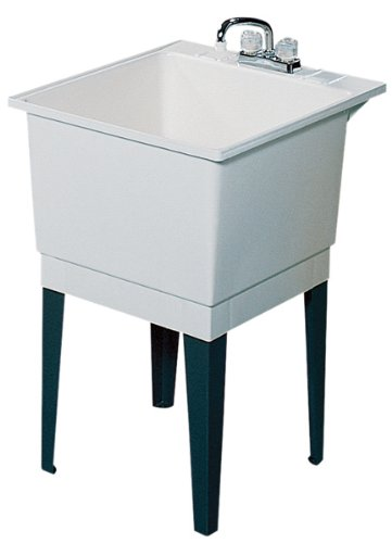 kitchen bath fixtures sterling 996 0 latitude 25 inch by 22 inch top mount single bowl vikrell utility sink with stand white laundry utility fixtures