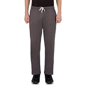The Cotton Company Men's Cotton Track Pants - Grey (Trop_Tracks_DarkGrey_EcruPiping_XXL)