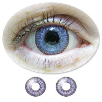 Farbige Kontaktlinsen Monatslinsen Fun Calaview Violet /Violette /Lilane ohne Stärken / Dioptrien