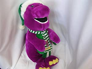 Amazoncom Barney Large 23 JUMBO Plush Toy Collectible  with Christmas Jingle Bell Hat Toys