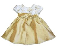 Rare Editions Baby-Girls Infant Ivory Gold Embroidered ...