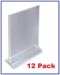 """(Pack of 12) 4"""" x 6"""" Acrylic Sign Holder / Clear Table ..."""