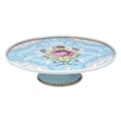 Pip Studio Amsterdam Porcelain 12 Inch Blue Cake Stand