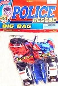 Amazoncom JaRu Police Rescue Big Bag Pack of 3 Toys