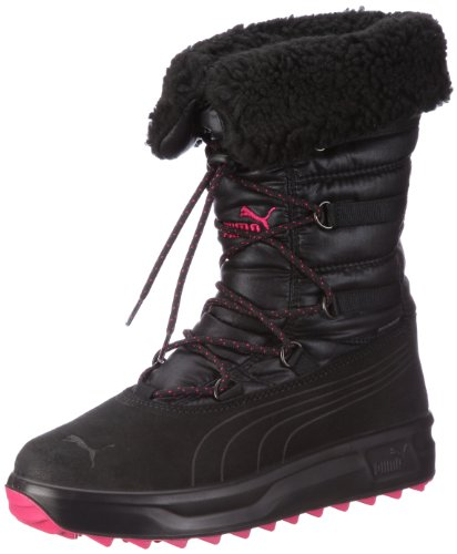 Puma Aronia Shearling Wn's GTX 186039, Damen Stiefel, Schwarz (black-black-beetroot purple 01), EU 40 (UK 6.5) (US 9)