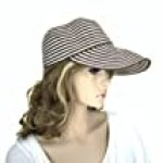 "Noonies Boutique Striped Brown/White Sun Bonnet 11"" w/ 5"" Brim"