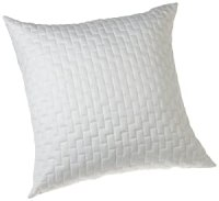 Amazon.com - Bamboo Quilted Sham in White Size: Euro - Bed ...