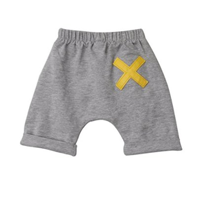 Bolayu-Baby-Kids-Boys-Harem-Pants-Bloomers-Striped-Pattern-Print-Shorts-5T-Gray