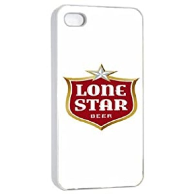 Cool design Lone Star beer logo white case for iphone 4/4s at amazon