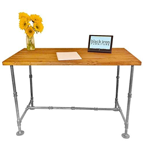 Amazoncom Large Industrial Vintage Style Steel Pipe Desk