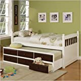 Captain's Bed with Trundle and Storage Drawers in White Size: Full